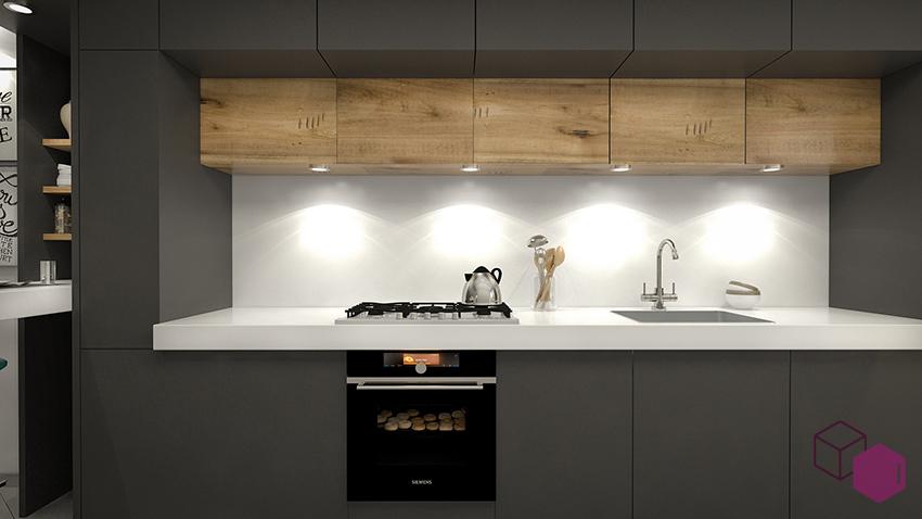Cocina abierta al pasillo amazing cocina con office con - Cocinas abiertas al pasillo ...